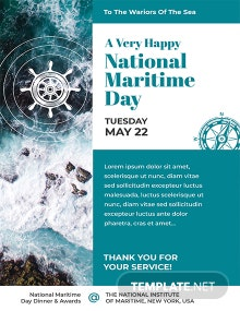 Free National Maritime Day Invitation Template