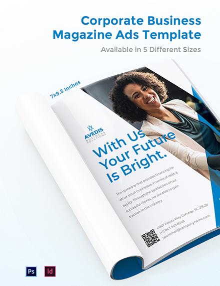 Free Corporate Business Magazine Ads Template