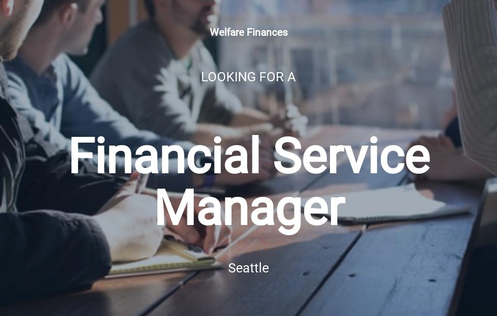Financial Service Manager Job Ad/Description Template