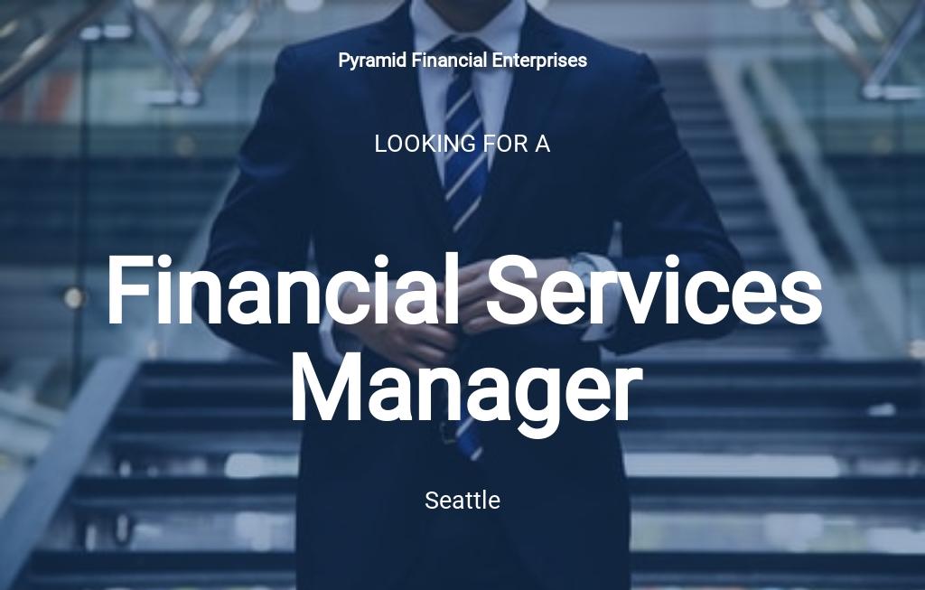 Financial Services Manager Job Ad/Description Template