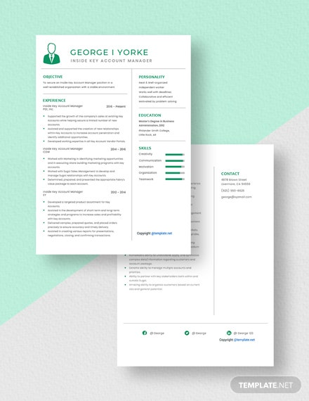 Inside Key Account Manager Resume Download