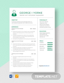 Free Inside Key Account Manager Resume Template