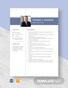 Inside Sales Manager Resume Template