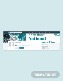 Free National Maritime Day LinkedIn Company Cover Template