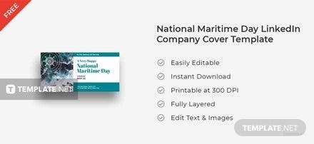 National Maritime Day LinkedIn Company Cover Template