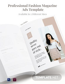 Free Professional Fashion Magazine Ads Template