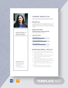Inside Sales Specialist Resume Template