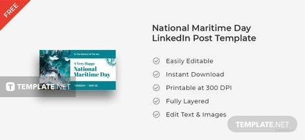 National Maritime Day LinkedIn Blog Post Template