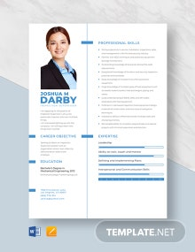 Inspection Supervisor Resume Template