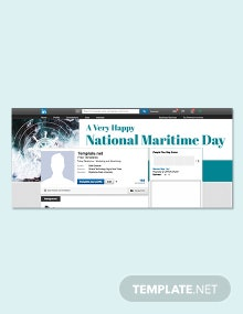 Free National Maritime Day LinkedIn Profile Banner