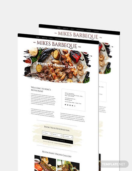 BBQ Restaurant Website Download