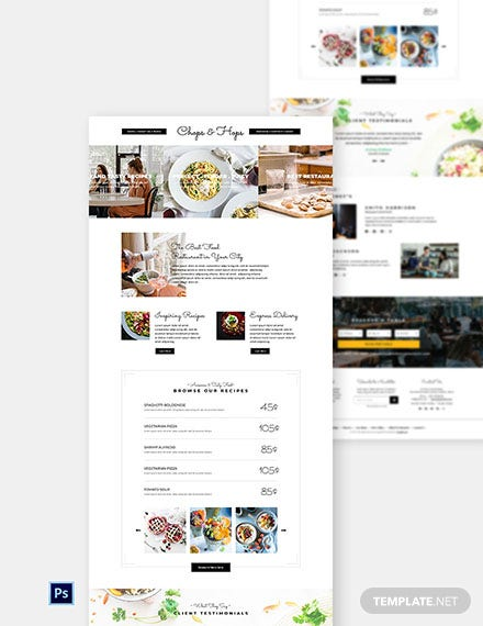 Creative Restaurant Website Template