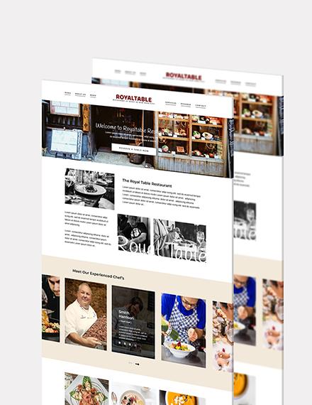 Minimal Restaurant Website Download