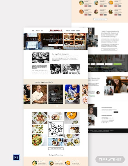 Free Minimal Restaurant Website Template