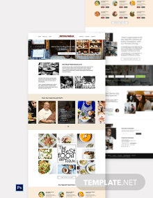 Minimal Restaurant Website Template