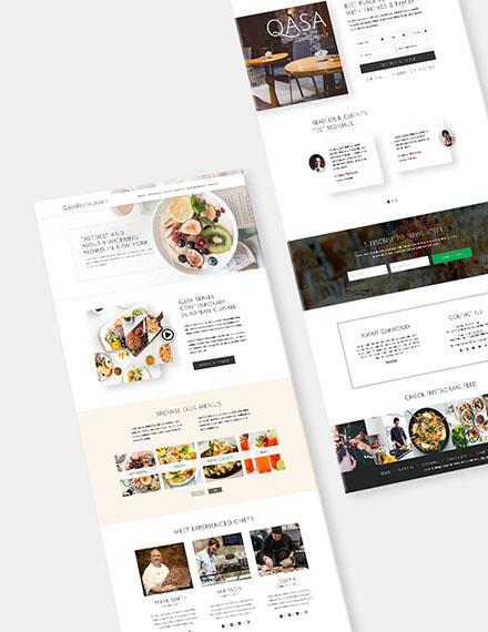 Responsive Restaurant Website Download
