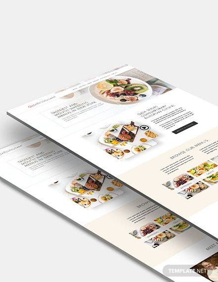 Responsive Restaurant Website Template