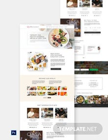 Free Responsive Restaurant Website Template