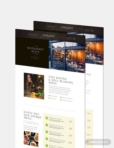 Restaurant  Cafe Website Download