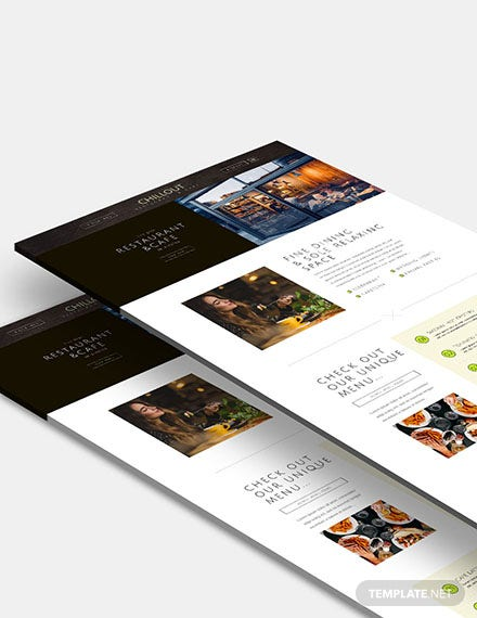 Restaurant  Cafe Website Template