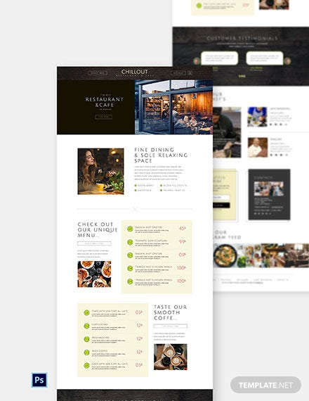 Free Restaurant & Cafe Website Template