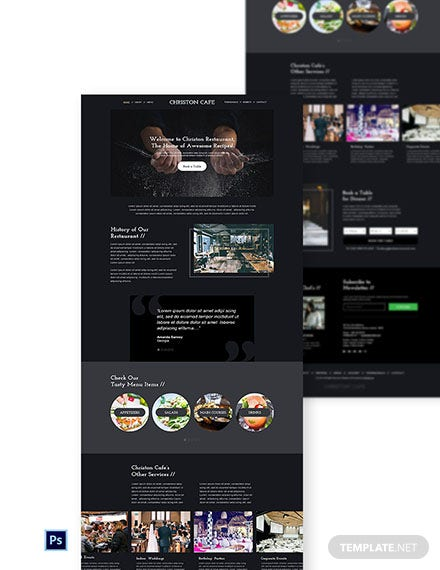 Free Simple Restaurant Website Template