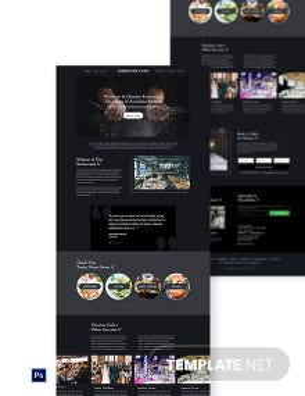 Free Simple Restaurant Website Template