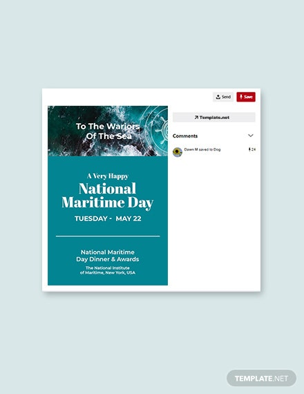 Free National Maritime Day Pinterest Pin