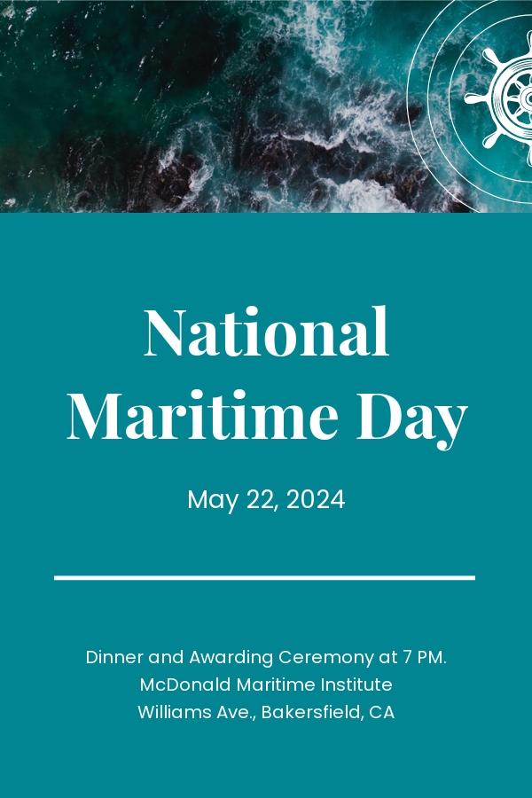National Maritime Day Pinterest Pin Template