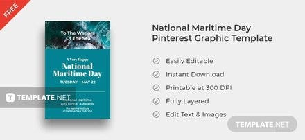 National Maritime Day Pinterest Pin