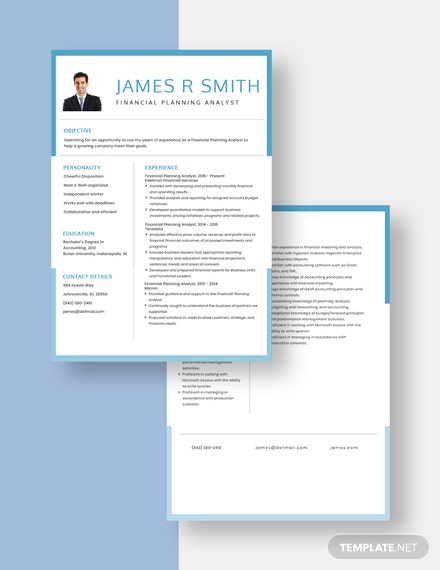 Financial Planning Analyst Resume Download