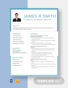 Financial Planning Analyst Resume Template