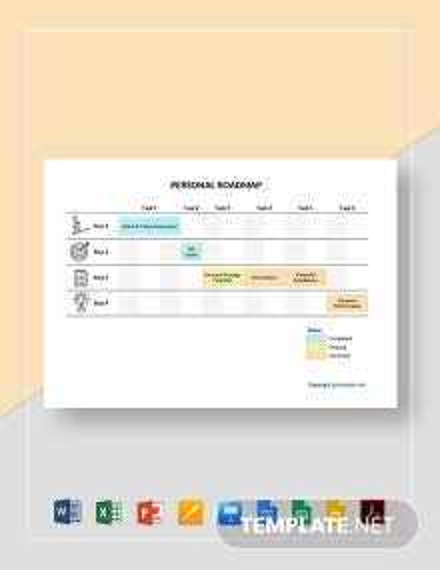 Free Sample Personal Roadmap Template