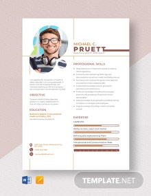 Health & Safety Specialist Resume Template