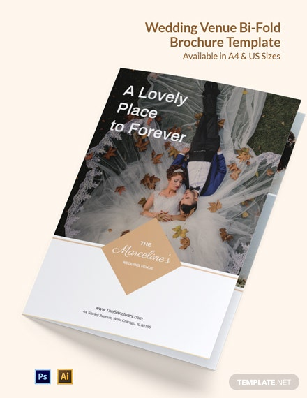 Wedding Venue Brochure Bi-Fold Template