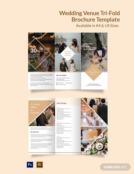 Wedding Venue Brochure Tri-Fold Template