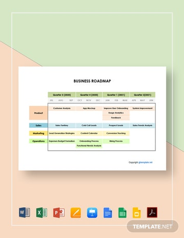 Free Simple Business Roadmap Template