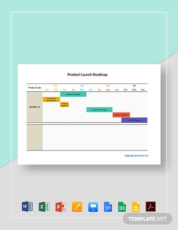 Product Launch Roadmap Template