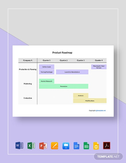 Free Simple Product Roadmap Template