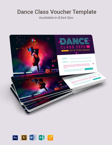 Dance Class Voucher Template