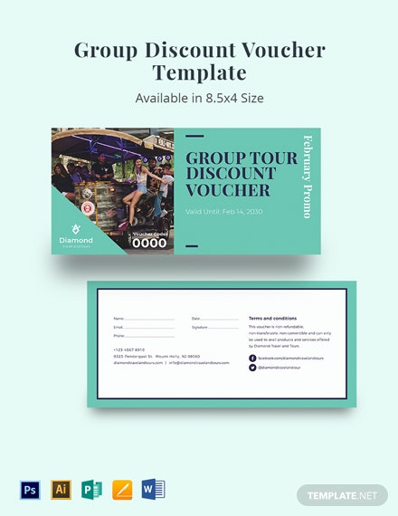 Group Discount Voucher Template