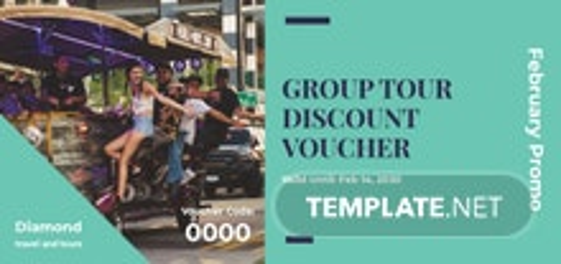 Group Discount Voucher Template
