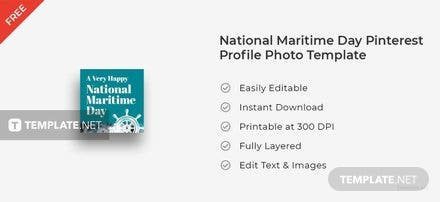 National Maritime Day Pinterest Profile Photo