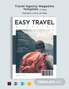 Travel Agency Magazine Template