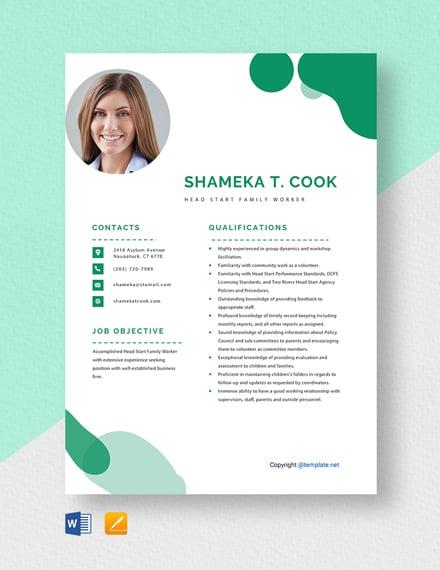 free head start teacher resume template