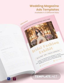 Free Elegant Wedding Magazine Ads Template