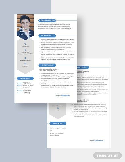 Home Attendant Resume Download