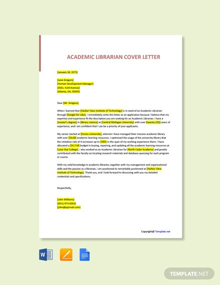 13  Free Academic Letter Templates