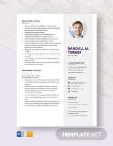 Head Teacher Resume Template