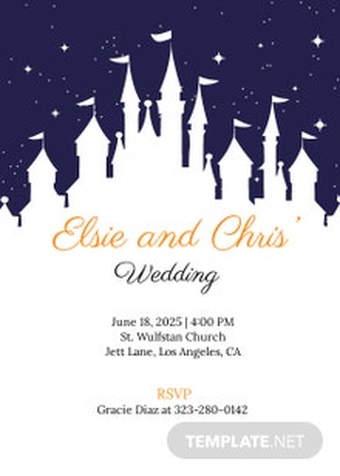 Disney Wedding Invitation Template